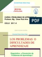 LOS PROBLEMAS  O DIFICULTADES DE APRENDIZAJE
