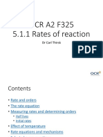 5.1.1 Rates of Reaction