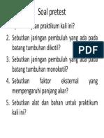 Soal Pretest Praktek Ke 3