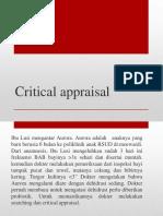 Critical Appraisal Terapi Tutor 6