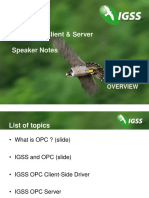 YouTube26 - Speaker Notes, IGSS OPC Client and Server
