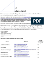 Find a Cambridge School