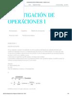 Investigación de Operaciones 1_ Ejercicios 1