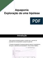 Aquaponia Exploração de uma hipótese