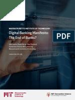 Mit Digital Bank Manifesto Report