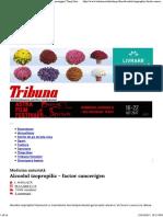 Medicina Naturistă Alcoolul Izopropilic - Factor Cancerigen _ Timp Liber _ Tribuna