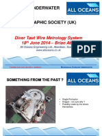 Diver Taut Wire Metrology System - Brian Abel