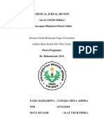 Critical Jurnal Review Alat Ukur Fisika