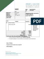 Aihmct Invoice