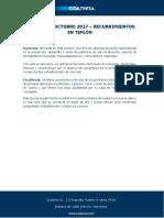 Productos Octubre 2017 - Recubrimientos en Teflón