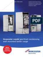 Greenstar Gas Combi Boilers Technical and Specification Information