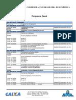 Cbgr e Copa Brasil Caixa de Conjuntos - Juvenil e Adulto 2016 - Programa Geral