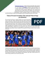 Tim Nasional Perancis Benamkan Tim Nasional Wales Di Laga Persahabatan