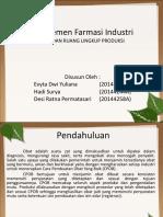 Manajemen Farmasi Industri