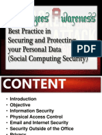 Employee Awareness - Best Pratice in Securing and Protecting Your Personal Data