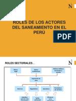 Roles y Actores en Saneamiento