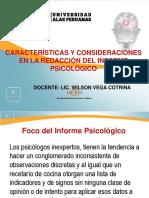 10. Características, Elementos de Estructuración y Consideraciones Prácticas de Redacción Del Informe Ip