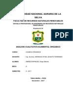 Analisis Cualitativo ELEMENTAL ORGANICO