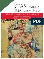 1506526259cartas Para a Proxima Geracao Volume II Reflexoes Sobre a Vida Judaica