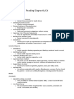 reading diagnostic kit