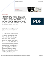 When Samuel Beckett Tried to Capture the Power of the Movies - The New Yorker
