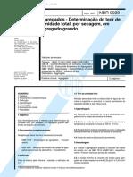 NBR 09939 - 1987 - Agregados - Determinacao Do Teor de Umidade Total Por Secagem Em Agregado Graudo