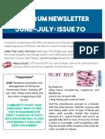 June July Newsletter 2017