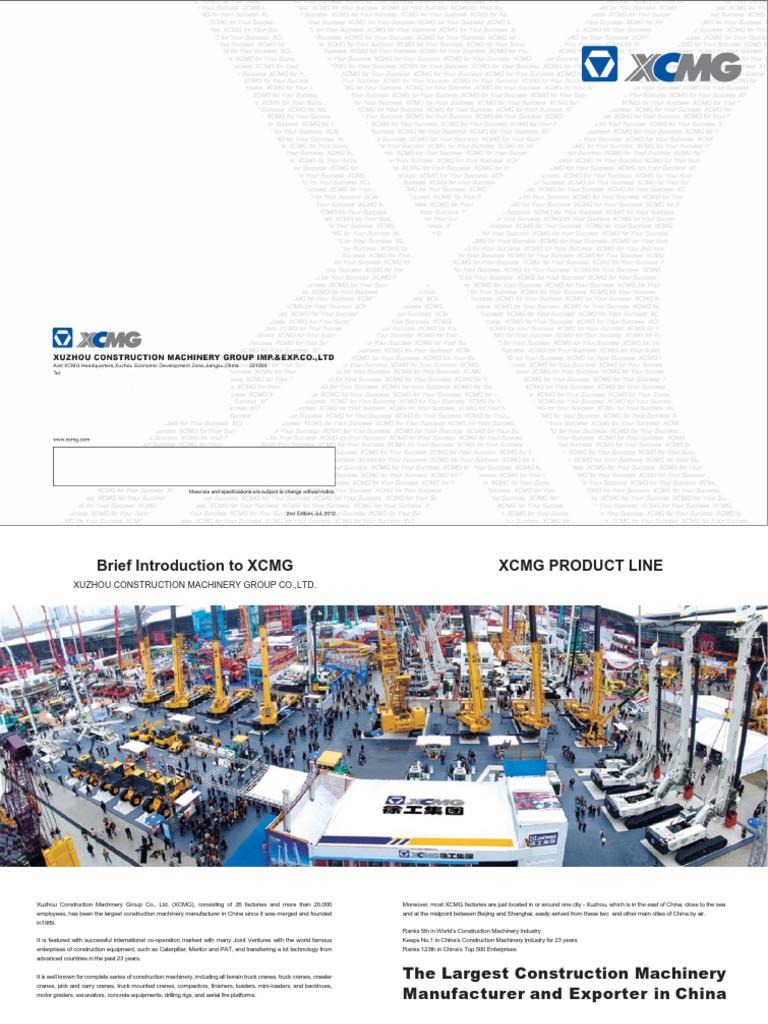 XCMG Catalogue 2017 | Crane (Machine) | Heavy Equipment