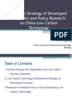 Low Carbon Strategy of Developed Countries and Policy Research on China Low Carbon Technology
