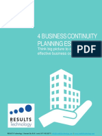 4 Essentials of a Business Continuity Plan