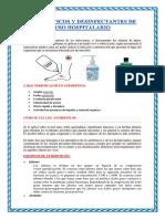 Antisépticos y Desinfectantes de Uso Hospitalario