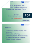 Impacts, Adaptation and Strategies of Climate Change in Coastal City, Southeast China