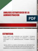 Analisis Estrategico de La Administracion
