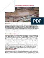 Causes of Environmental Pollution and Solutions
