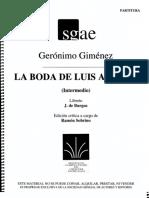 La Boda de Luis Alonso Dirección
