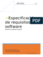 Plantilla REQUISITOS Estándar IEEE 830 IngSoft I