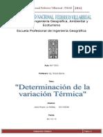 variacion termica