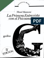 Manoni,M La Primera Entrevista Con El Psicoanalista. Cap 4