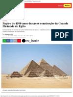 Papiro de 4500 Anos Descreve Construção Da Grande Pirâmide Do Egito Superinter