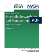 FY18 Stockpile Stewardship and Management Plan
