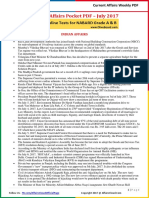 Current Affairs Pocket PDF - July 2017 by AffairsCloud