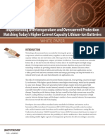 Implementing Overtemperature Overcurrent Protection Lithium Ion Batteries White Paper