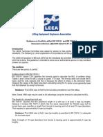 Leea-054 Guidance on Bs en 13414-1 and Bs en 13411-3
