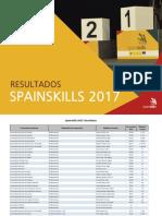 Spainskills2017resultadosv3 PDF
