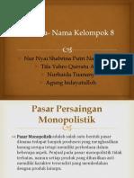 Tugas Ekonomi Pasar Monopolistik