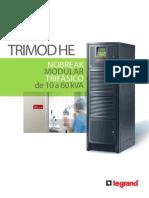 Catalogo de Nobreak Trimod HE UPS Senoidal 10 a 60 KVA (27600 160721)