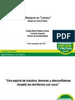 Presentación debate de control político por masacre en Tumaco- 14 de noviembre 2017