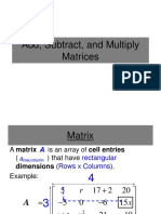 Add Subtract and Multiply Matrices