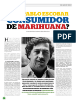 ¿Era Pablo Escobar consumidor de marihuana?