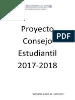 Proyecto Consejo Estudiantil 20172018